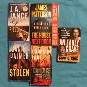 Bundle of suspense books and one true crime
